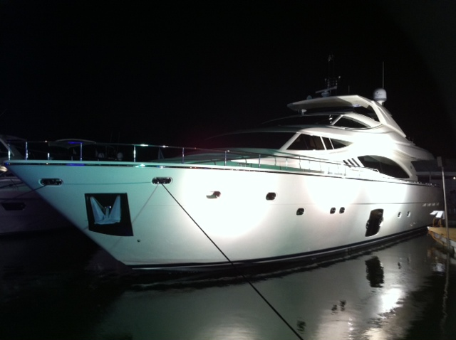 The new 881 Ferretti RPH Looks beautiful under the light on Collins Ave. at ...